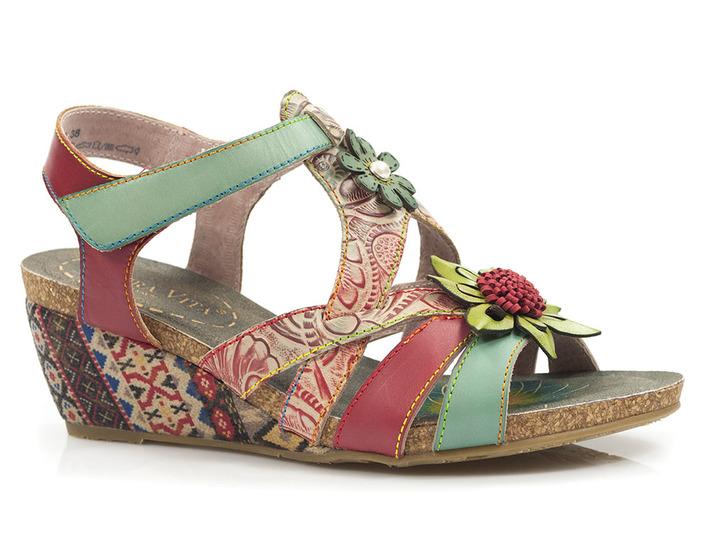 wielobarwne sandały Laura Vita Jackdeleo