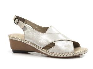 Buty damskie sandały na niskim koturnie Rieker 66170-90