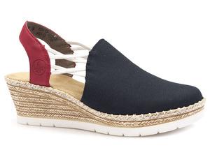 Buty damskie sandały espadryle Rieker 619V0-14