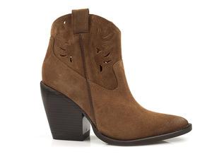 Buty damskie ażurowe kowbojki na obcasie Carinii B5161
