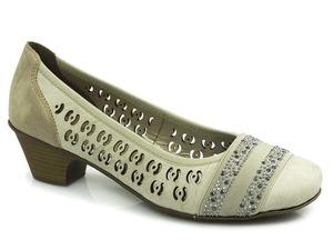 Buty damskie ażurowe czółenka Rieker 42376