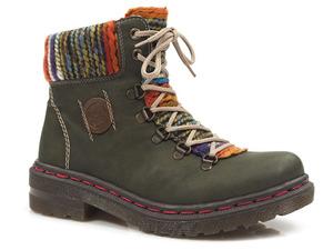 Buty damskie botki zimowe Rieker 76243-54