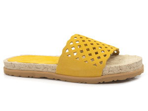 Buty damskie klapki na sznurkowym spodzie Yokono Prades 001