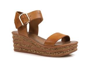 Buty damskie sandały na wygodnym koturnie Lemar 40159