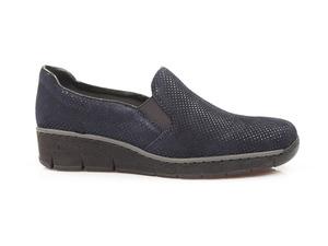 Buty damskie półbuty damskie wsuwane Rieker 53766-18