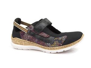 Buty damskie letnie półbuty sandały Rieker N42R8-14