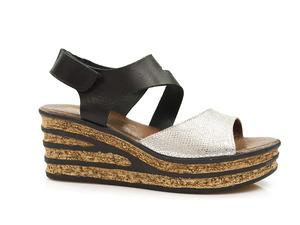 Buty damskie sandały na wygodnym koturnie Lemar 40162