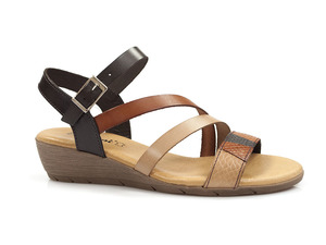 Buty damskie sandały na niskim koturnie EL PIMPI 718