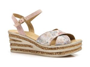 Buty damskie sandały na koturnie Nessi 19536