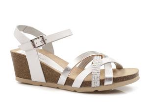 Buty damskie sandały na koturnie Yokono CADIZ 071