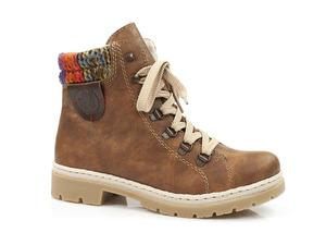 Buty damskie trzewiki damskie z kożuszkiem Rieker Y9430-22