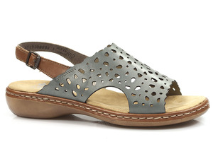 Buty damskie ażurowe sandały Rieker 65966-12