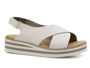 Buty damskie sandały na platformie Rieker