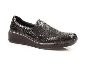 Buty damskie półbuty wsuwane Rieker 53766
