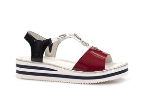Buty damskie sandały na niskiej platformie Rieker V02Y6-33