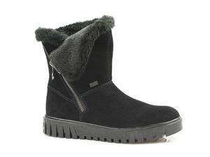 Buty damskie botki damske tex z kożuszkiem Rieker Y3470-00