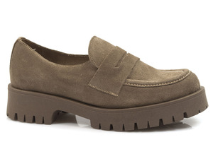 Buty damskie półbuty na grubej podeszwie Lemar 20088