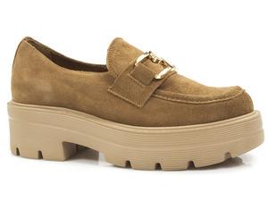 Buty damskie półbuty na grubej podeszwie Lemar 20086