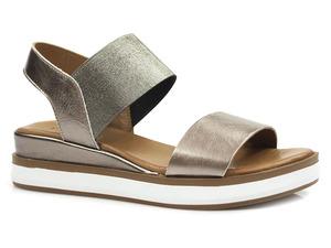 Buty damskie metaliczne sandały na platformie Venezia 21249