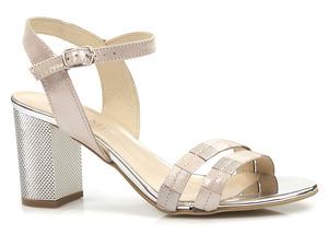 Buty damskie eleganckie sandały na obcasie Gamis 5066