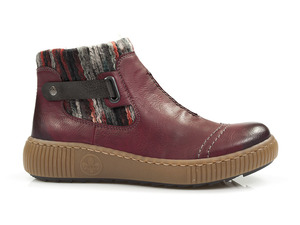 Buty damskie botki z wełnianym kożuszkiem Rieker Z6684-35