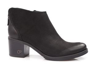 Buty damskie botki na niższym obcasie Carinii b3016