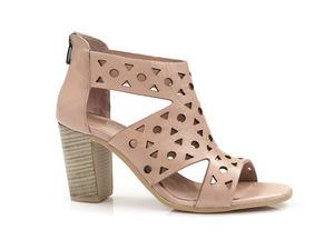 Buty damskie ażurowe sandały na obcasie Venezia 8152