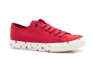 Buty damskie trampki z podeszwą w kwiatki Big Star DD274709/ DD274706