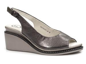 Buty damskie skórzane sandały na koturnie Filippo DS2150