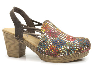 Buty damskie sandały na obcasie Rieker 66777-90