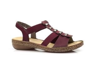 Buty damskie profilowane sandały Rieker 62850-35