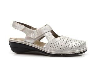 Buty damskie sandały na niskim koturnie Rieker 47775