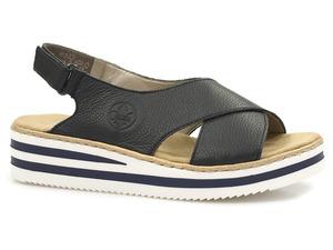 Buty damskie sandały na platformie Rieker V0271-14