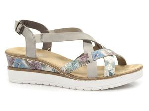 Buty damskie sandały na koturnie Rieker V3809-90