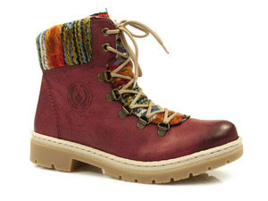 Buty damskie trzewiki damskie z kożuszkiem Rieker Y9432-35