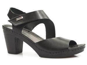 Buty damskie sandały na słupku Lemar 50009