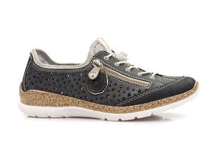 Buty damskie półbuty z wkładką memosoft Rieker N42P6-14