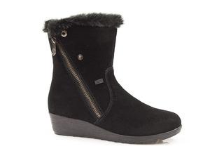 Buty damskie botki damske tex z kożuszkiem Rieker X2470-00