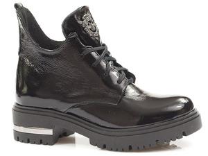 Buty damskie botki lakierowane Lemar 60309