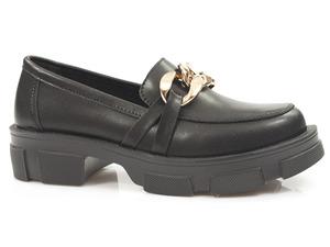 Buty damskie półbuty na grubej podeszwie Filippo DP3221