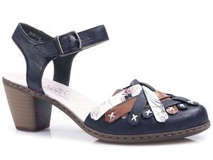 Buty damskie sandały półbuty letnie Rieker 40970-14