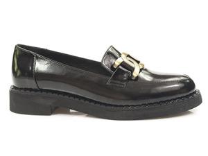 Buty damskie mokasyny  ze złotą klamrą Venezia 03951319R