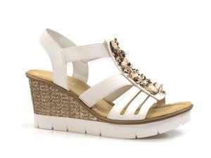 Buty damskie espadryle sandały Rieker 65596-80