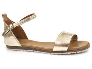 Buty damskie złote sandały gladiatorki Venezia 21560