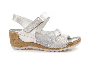 Buty damskie sandały na koturnie Lemar 50086