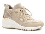 półbuty sneakersy Marco Tozzi 2-23744-26 - kolor: złoty beż