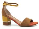 sandały Marco Tozzi 28303 - kolor: koniak
