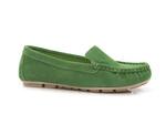 półbuty mokasyny Lemar 10058 - kolor: zielony welur
