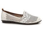 mokasyny lordsy Venezia 170-1 - kolor: biały