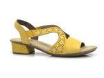 sandały Rieker V6216-68 - kolor: żółty